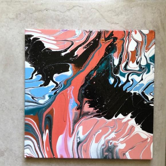 Handmade Wall Art 12 X 12 Acrylic Paint Pouring23 Poshmark